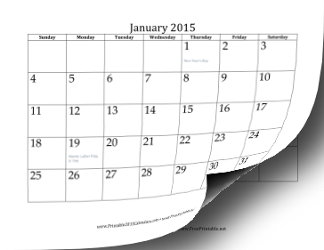 printable yearly calendar 2015