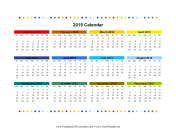 2015 Colorful Calendar calendar